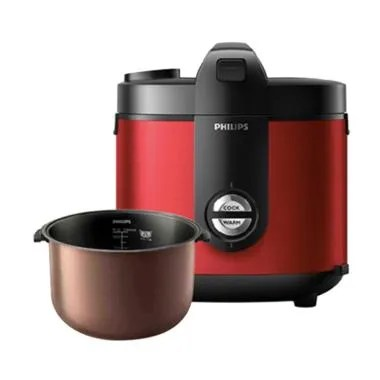 PHILIPS HD3132/32 Premium Plus Rice Cooker - Red