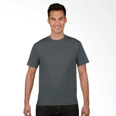 Gildan Original SoftStyle T-Shirt Pria - Charcoal