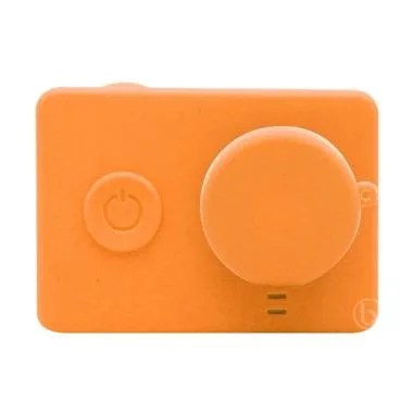 SJHOP Silicone Case and Lens Cap for Xiaomi Yi - Orange