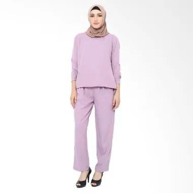 XQ Jenna Setelan Pakaian Muslim Wanita - Purple