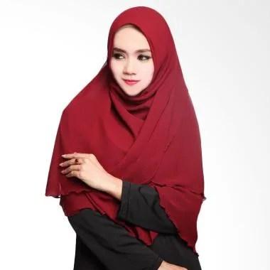 Cotton Bee Arumi Khimar Syar'i Jilbab Instan - Maroon