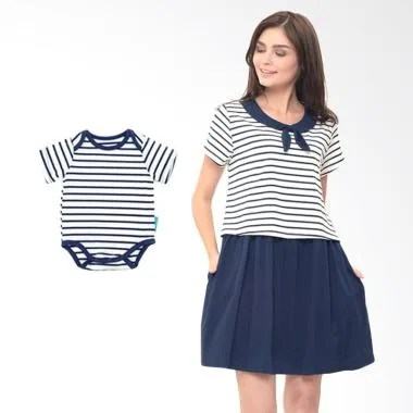 Mooimom Boy Scout Look Dress Set Ba ... il Menyusui & Anak - Navy