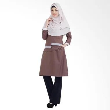 Valisha Reva Tunik Atasan Muslim Wanita - Coffee