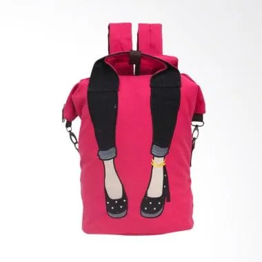 Pink Kiss by Elizabeth Relena Backpack Wanita - Merah Muda
