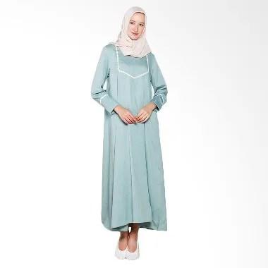 Elzatta Renda Fancy Gamis Muslim Wanita - Green