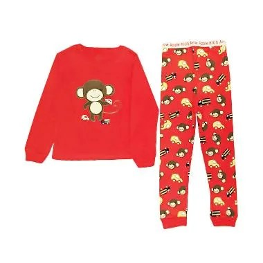 Arrow Apple Kids Pajamas Piyama Anak - Red Monkey