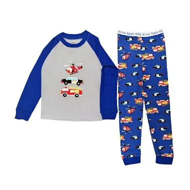 Arrow Apple Kids Pajamas Vehicles Piyama Anak