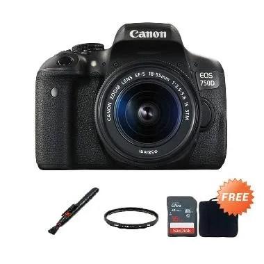 Canon EOS 750D 18-55mm IS STM Kamer ...  16 GB + Filter + Lenspen