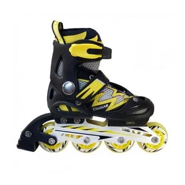 Cougar ADJ.Junior Inline Skate W/ABEC7 (38-41) MS835L - Black / Yellow