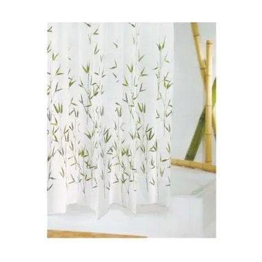 Crystal Polyester Shower Curtain Ba ...