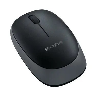 Logitech M165 Optical USB Wireless Mouse - Black [Garansi Resmi]