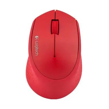 Logitech M280 Wireless Optical USB Mouse - Red [Garansi Resmi]