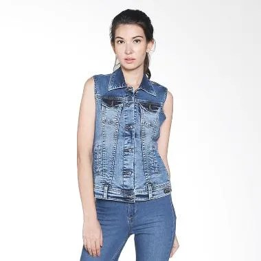 Lois Girl Denim Jacket WJV 116 Rompi Wanita - Blue