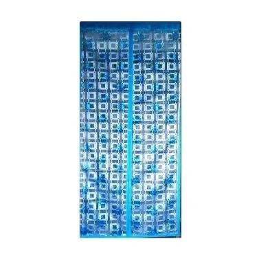 Lotusshops Mawar Kotak [X] Exclusive Biru Tirai Pintu Magnet