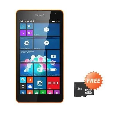 Microsoft Lumia 535 Smartphone - Orange [8 GB] + Free MicroSD 8GB