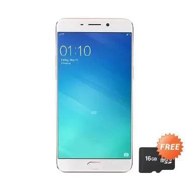 OPPO F1 Plus Smartphone - Gold [64 GB/4 GB] + Free MicroSD 16 GB