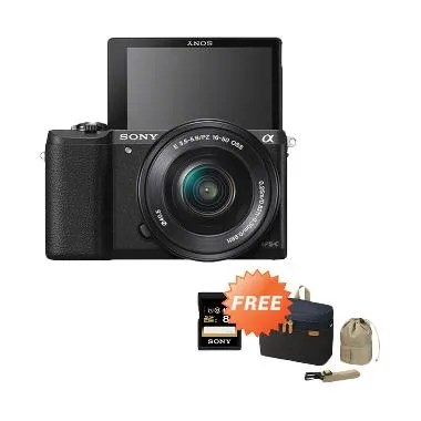Sony A5100 Kit 16-50mm Hitam Kamera Mirrorless