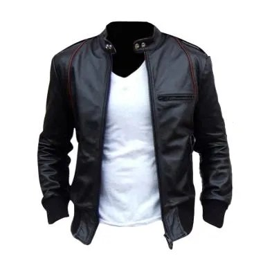 Jaket Kulit Semi Sintetis Leather Model Ariel Size M L XL
