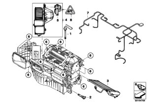 Original Parts for E71 X6 30dX M57N2 SAC  Heater And Air