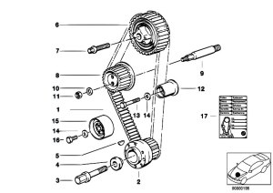 Original Parts for E30 318i M40 2 doors  Engine Timing