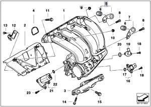 Original Parts for E46 316ti N42 Compact  Engine Intake