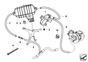 Original Parts for E60 530d M57N Sedan  Engine Vacum