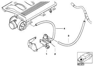 Original Parts for E39 520d M47 Sedan  Engine Vacuum