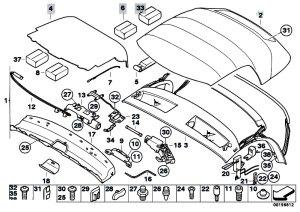 Original Parts for E85 Z4 25i M54 Roadster  Sliding Roof Folding Top Folding Top Eh  eStore