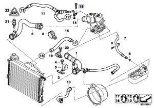Original Parts for E38 750iLP M73N Sedan  Engine Cooling System Water Hoses  eStoreCentral
