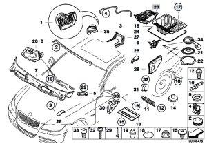 Original Parts for E90 320i N46N Sedan  Vehicle Trim