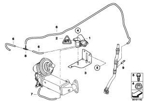 Original Parts for E90 320d N47 Sedan  Engine Vacuum Control Agr  eStoreCentral