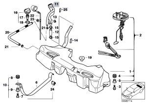 Original Parts for E39 525d M57 Touring  Fuel Supply