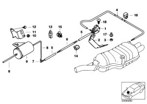 Original Parts for E46 330Ci M54 Coupe  Exhaust System
