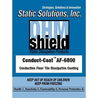 ESD Conductive dissipative floor coating