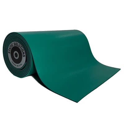 ESD mat mats and rolls in green