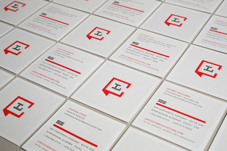 Lewis Communications visual identity