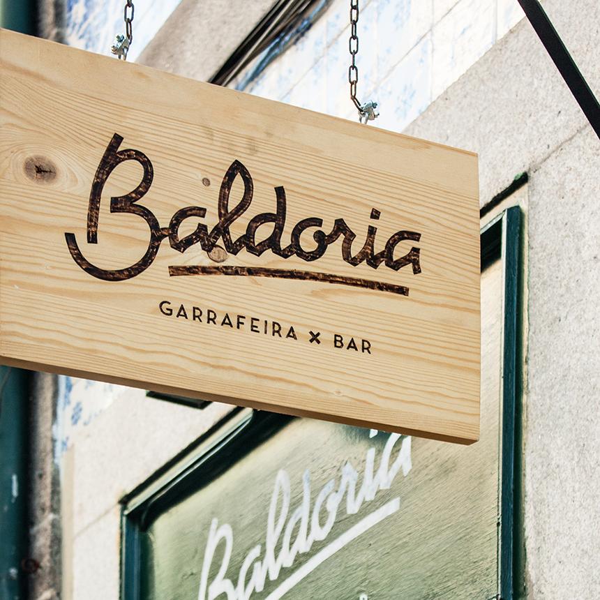 Baldoria Bar branding