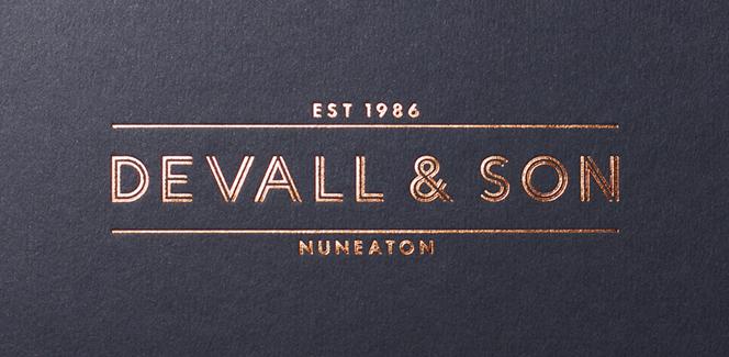 Devall & Son branding