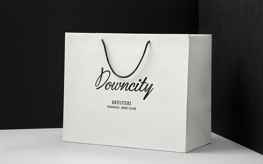 Downcity Outfitters branding