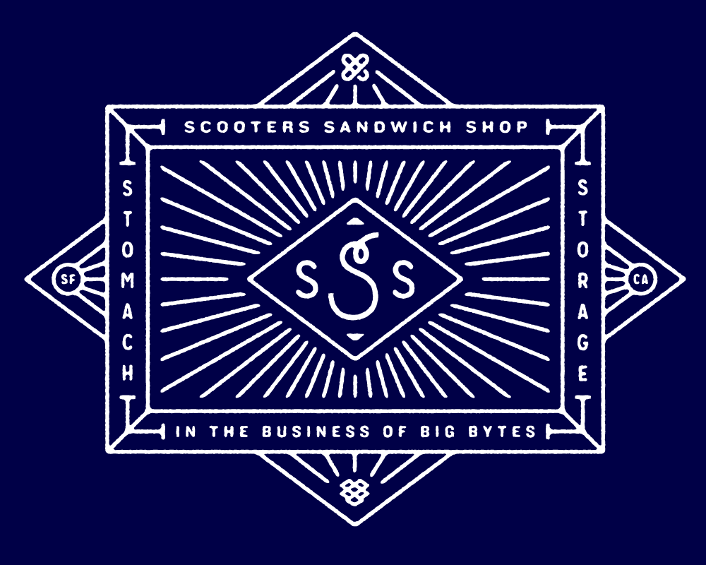 Scooters Sandwich Shop branding