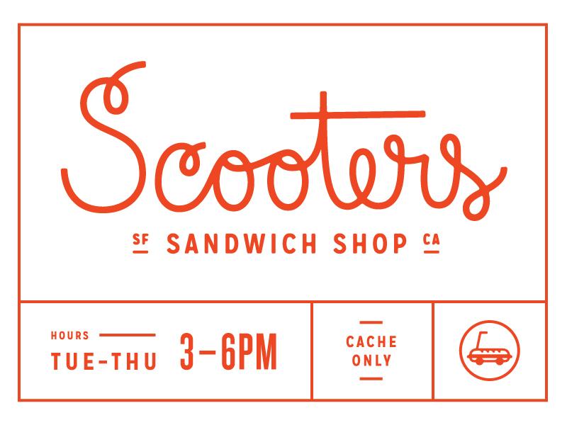 Scooters Sandwich Shop branding