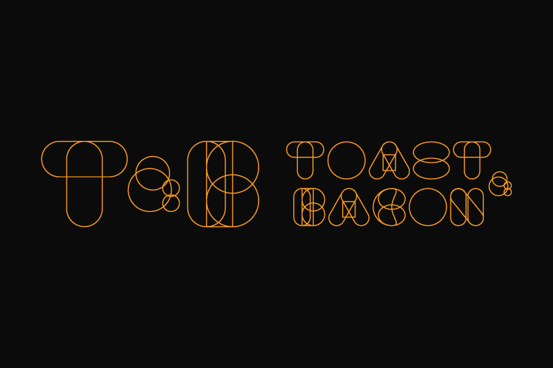 Toast & Bacon restaurant branding