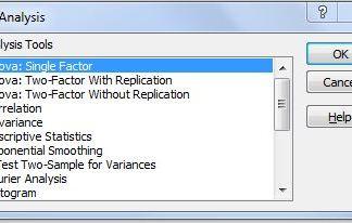 Uji ANOVA dengan Add Ins Excel