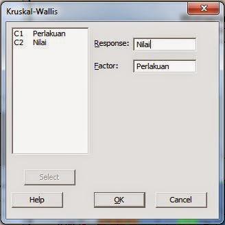 Tutorial Langkah Uji Kruskall Wallis dengan Minitab