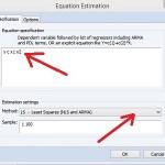 Regresi Linear dengan Eviews