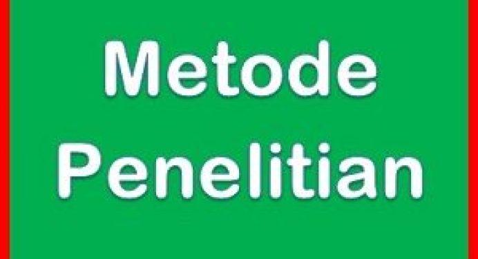 Metode Penelitian Pengertian Tujuan Jenis Uji Statistik