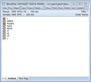 File Kerja Data Panel Pada EViews