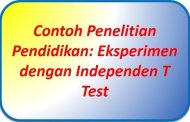 Contoh Penelitian Pendidikan Eksperimen dengan T Test