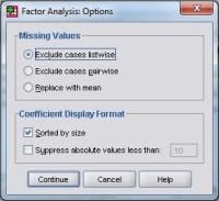 Analisis Faktor Options