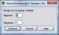 Grouping Kruskall Wallis